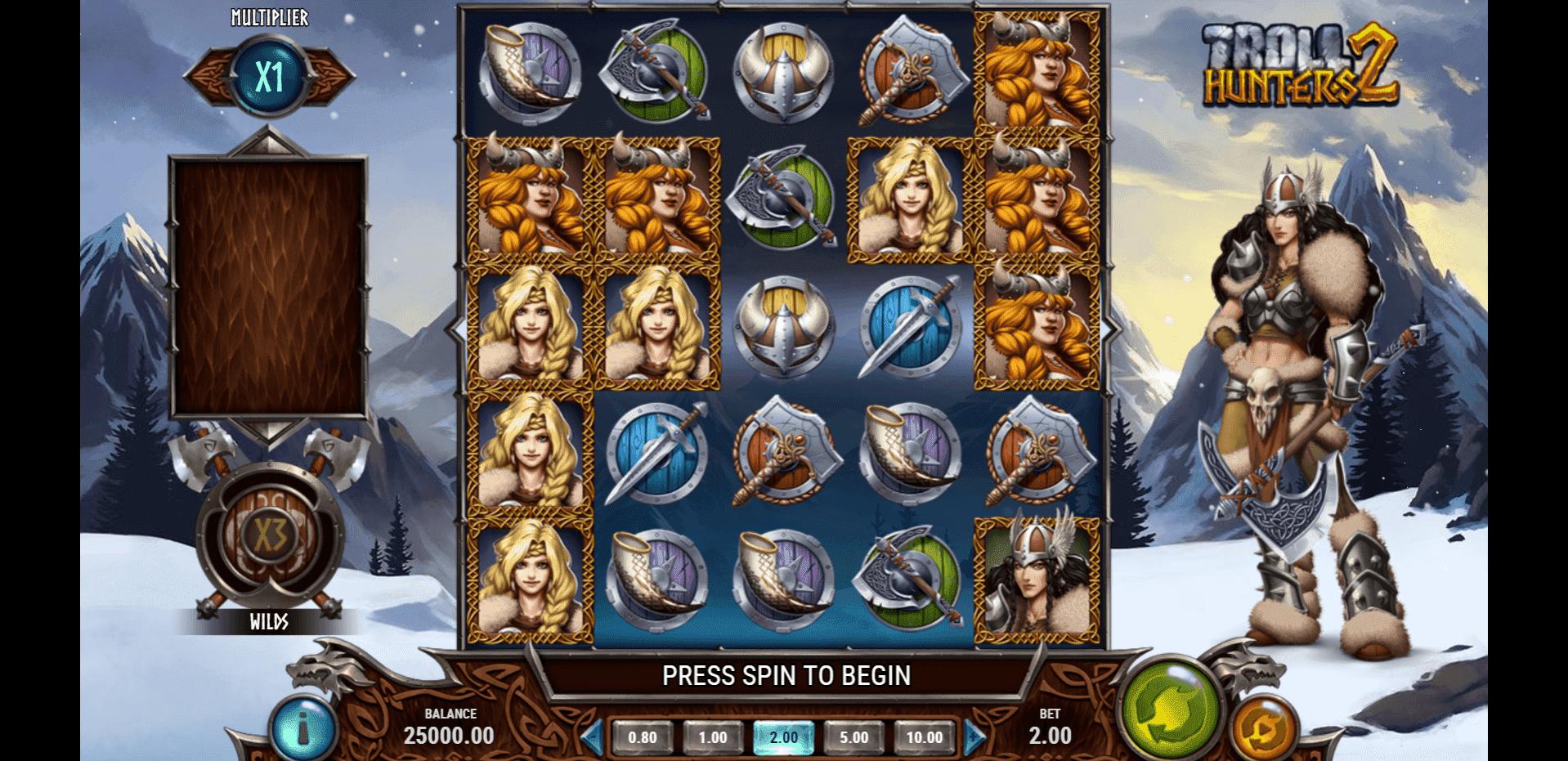 Troll Hunters 2 slot machine screenshot
