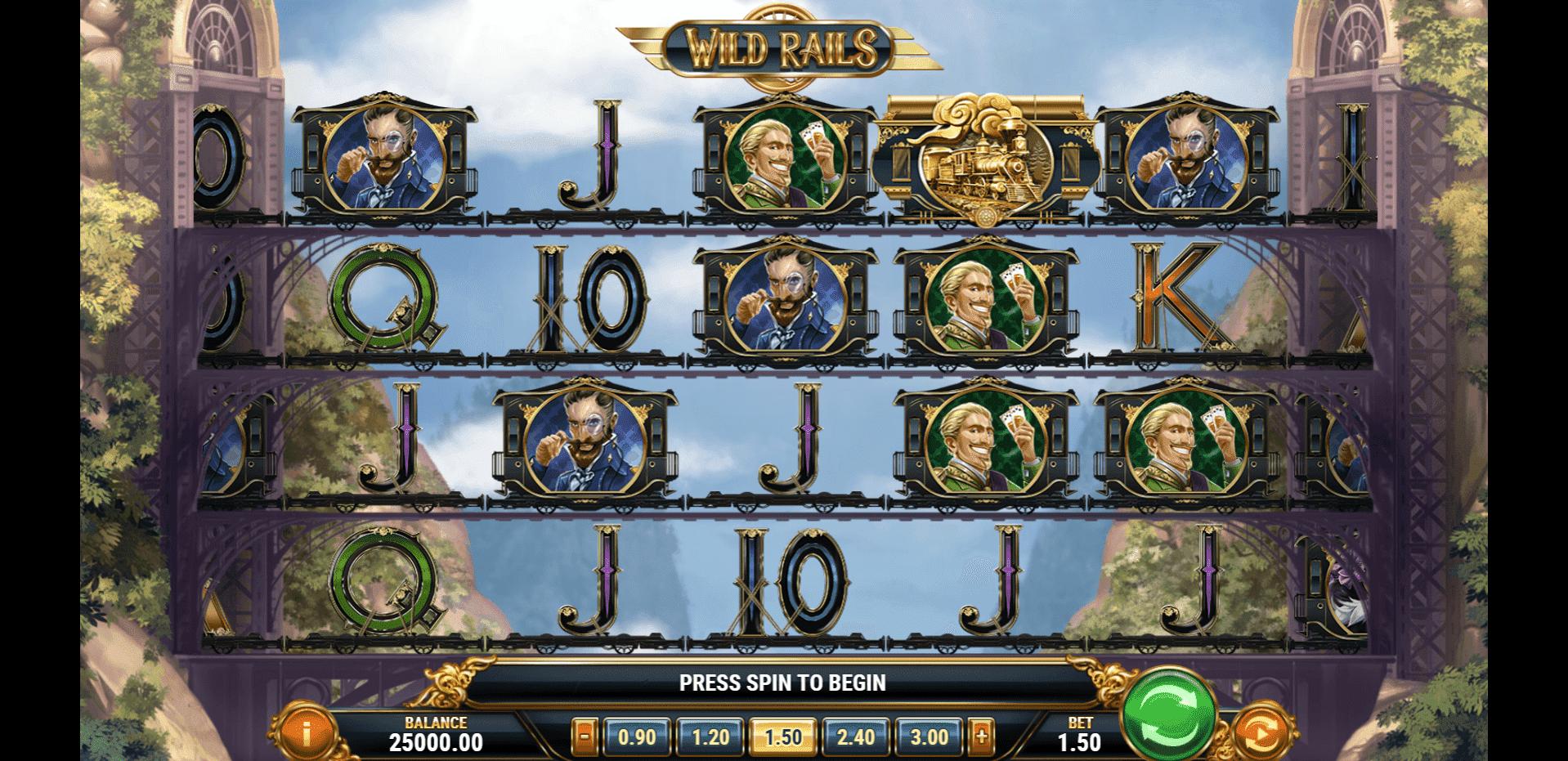Wild Rails slot machine screenshot