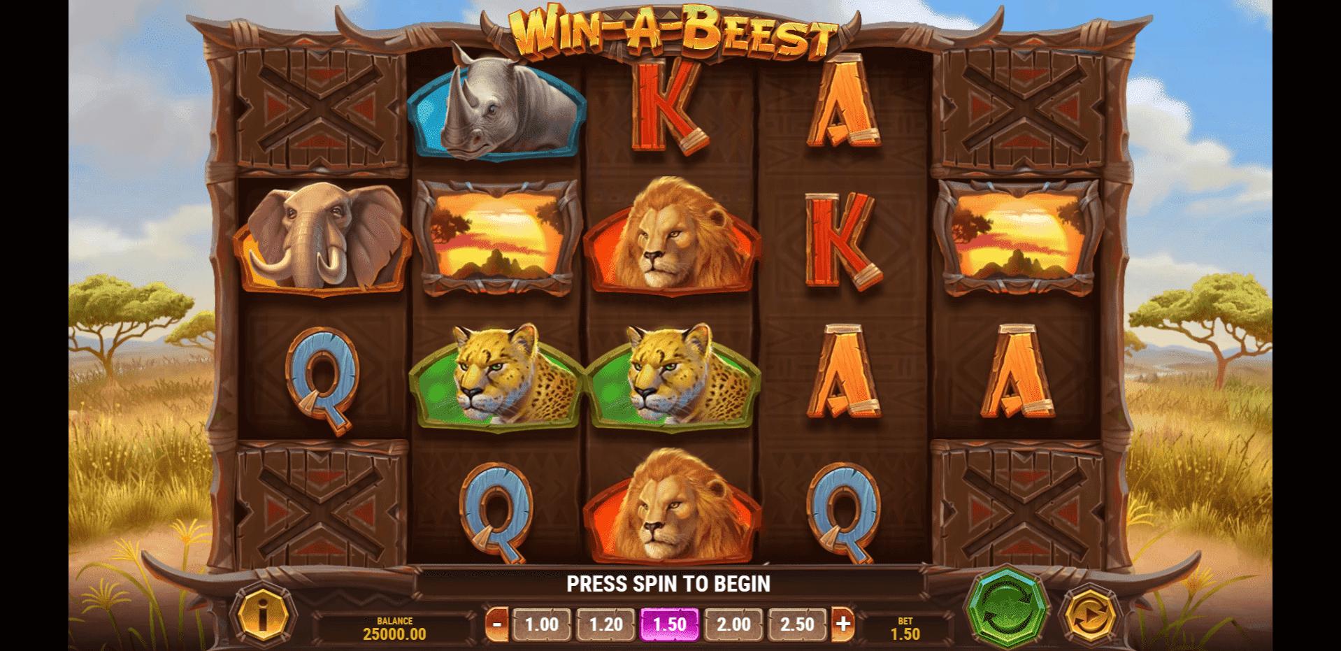 Win A Beest slot machine screenshot