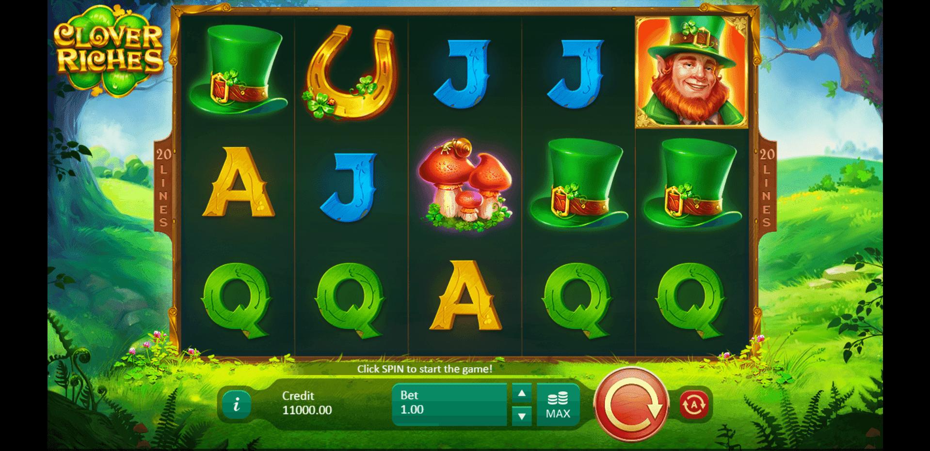 Clover Riches slot machine screenshot