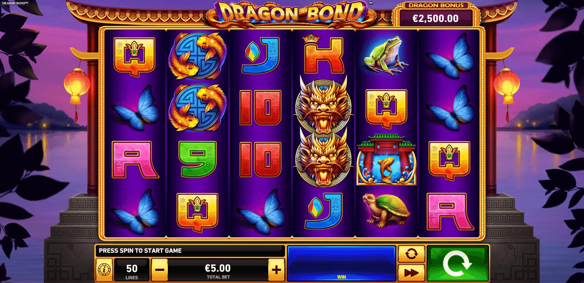 Dragon Bond slot machine screenshot