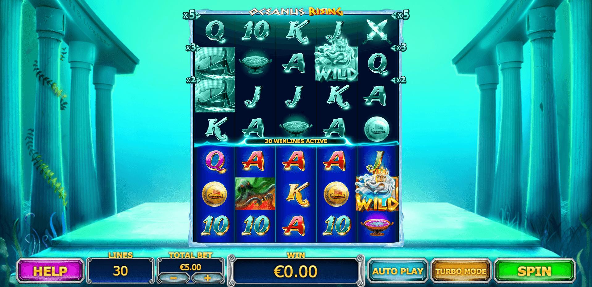 Oceanus Rising slot machine screenshot