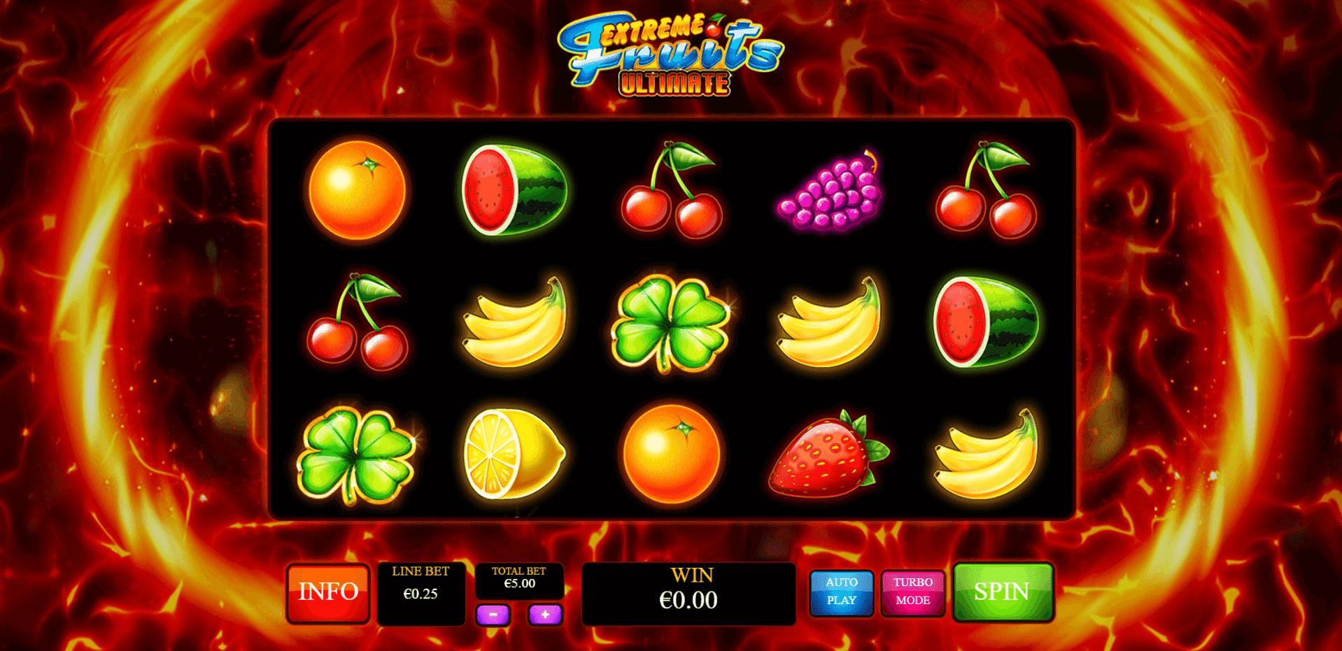 Extreme Fruits Ultimate slot machine screenshot