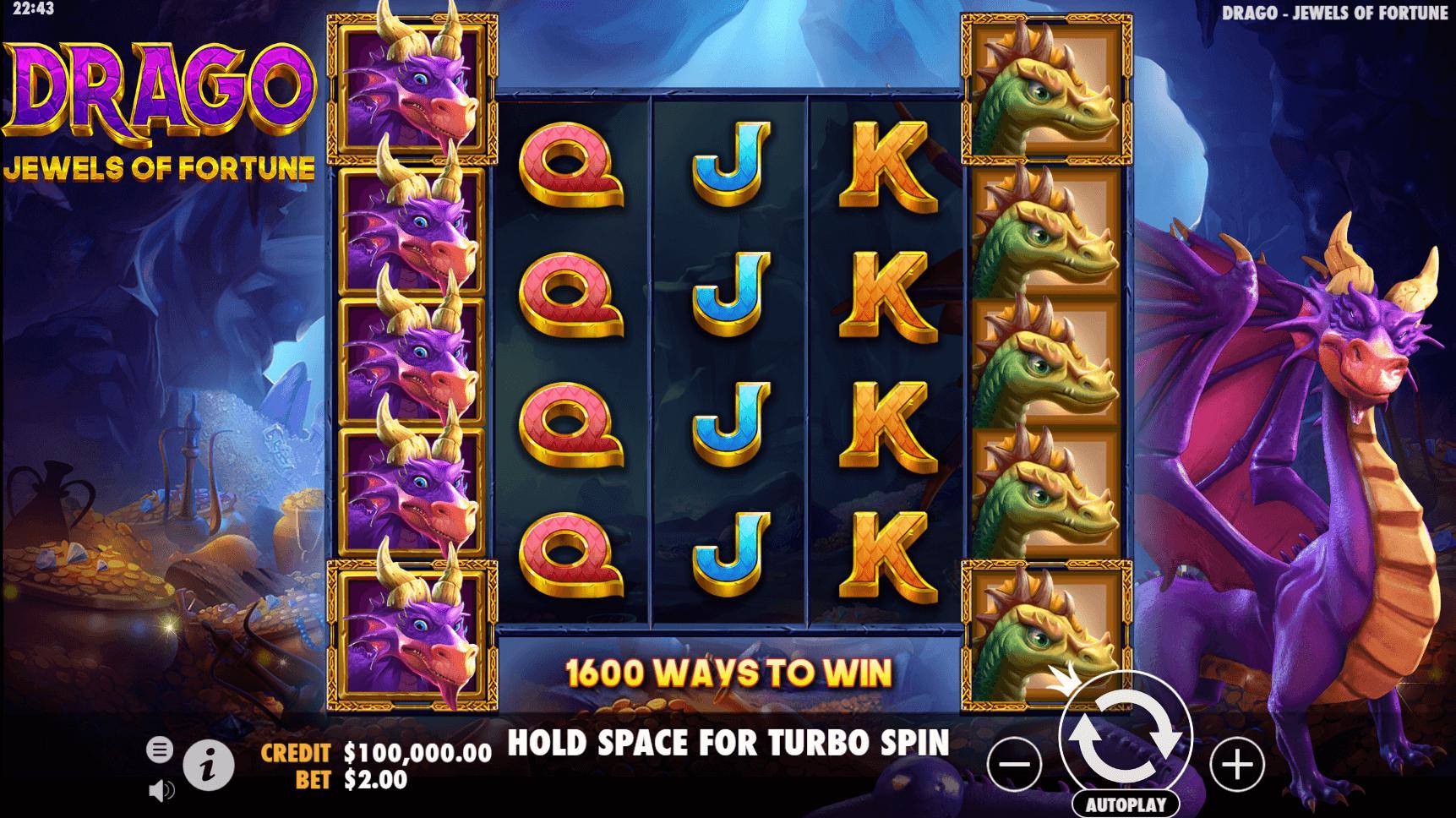 Drago Jewels of Fortune slot machine screenshot