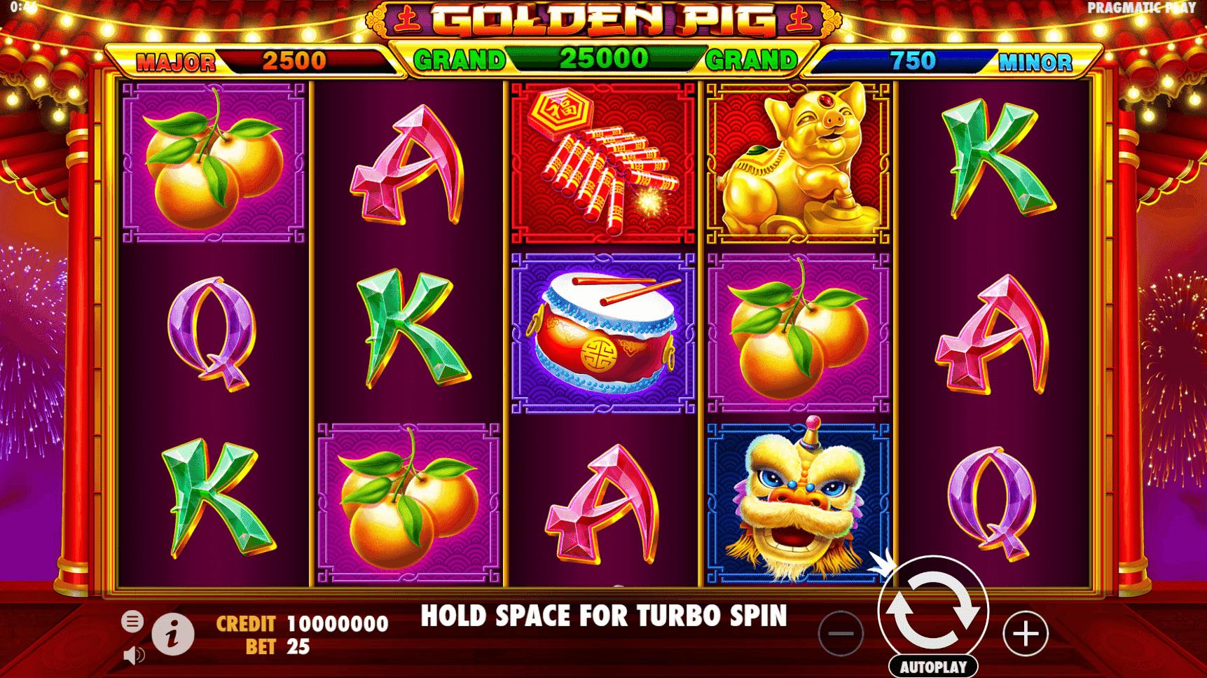 Golden Pig slot machine screenshot