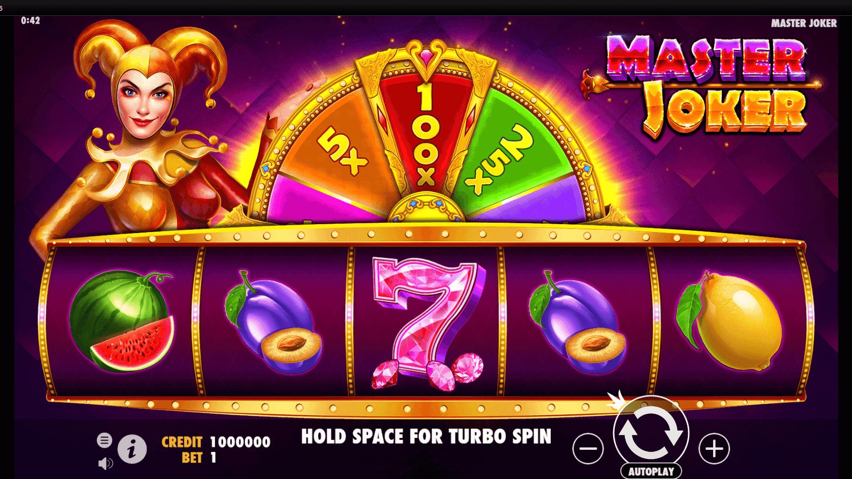 Master Joker slot machine screenshot