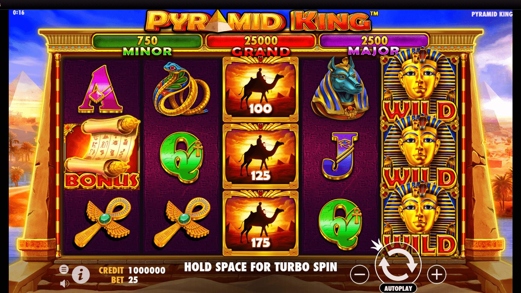 Pyramid King slot machine screenshot
