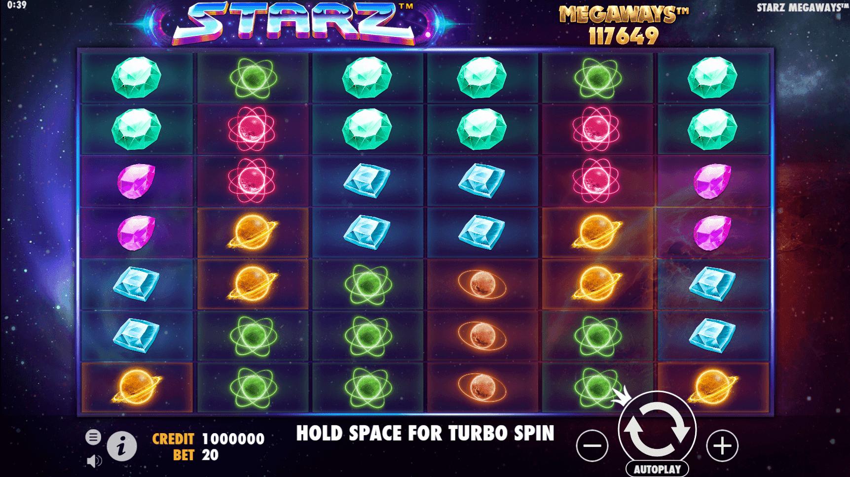 Starz Megaways slot machine screenshot