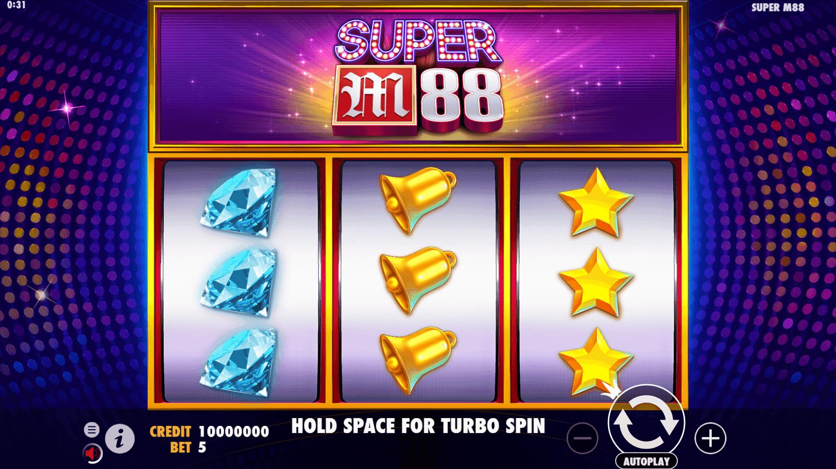 Super M88 slot machine screenshot