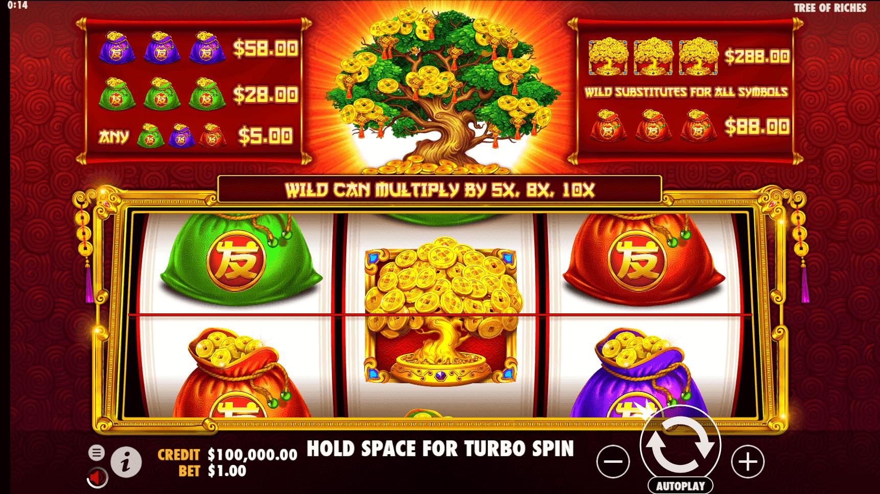 Tree of Riches slot machine screenshot