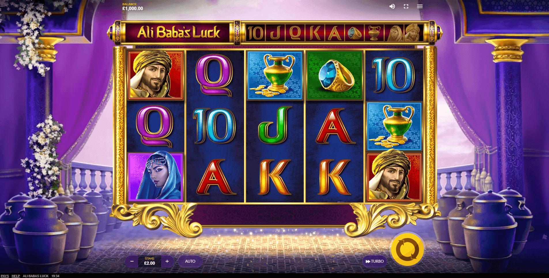 Ali Babas Luck slot machine screenshot
