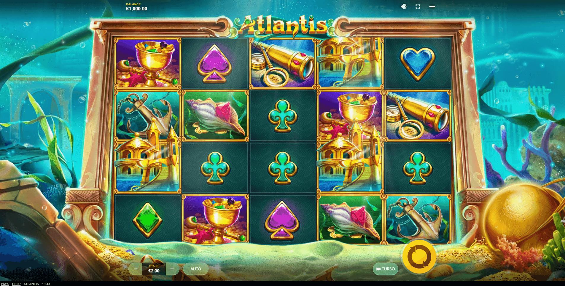 Atlantis slot machine screenshot