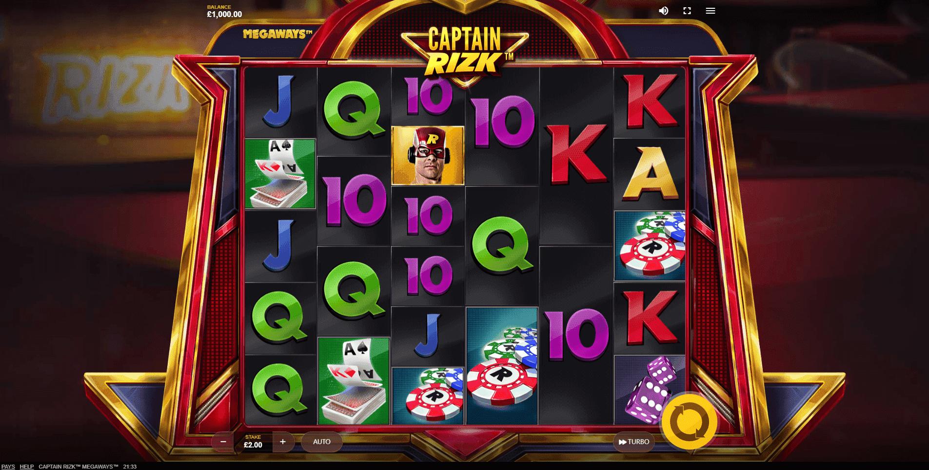 Captain Rizk Megaways slot machine screenshot