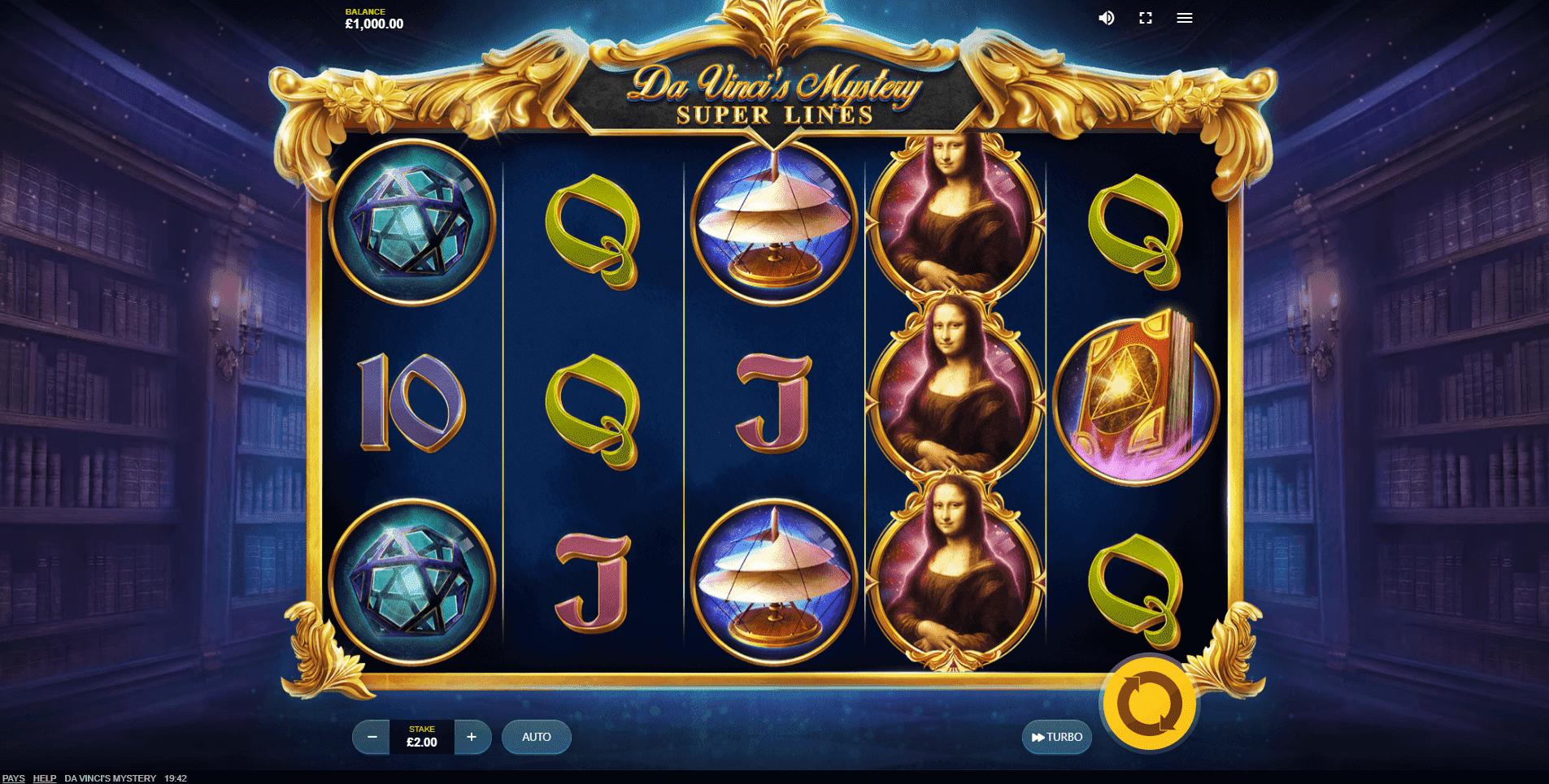 Da Vincis Mystery slot machine screenshot