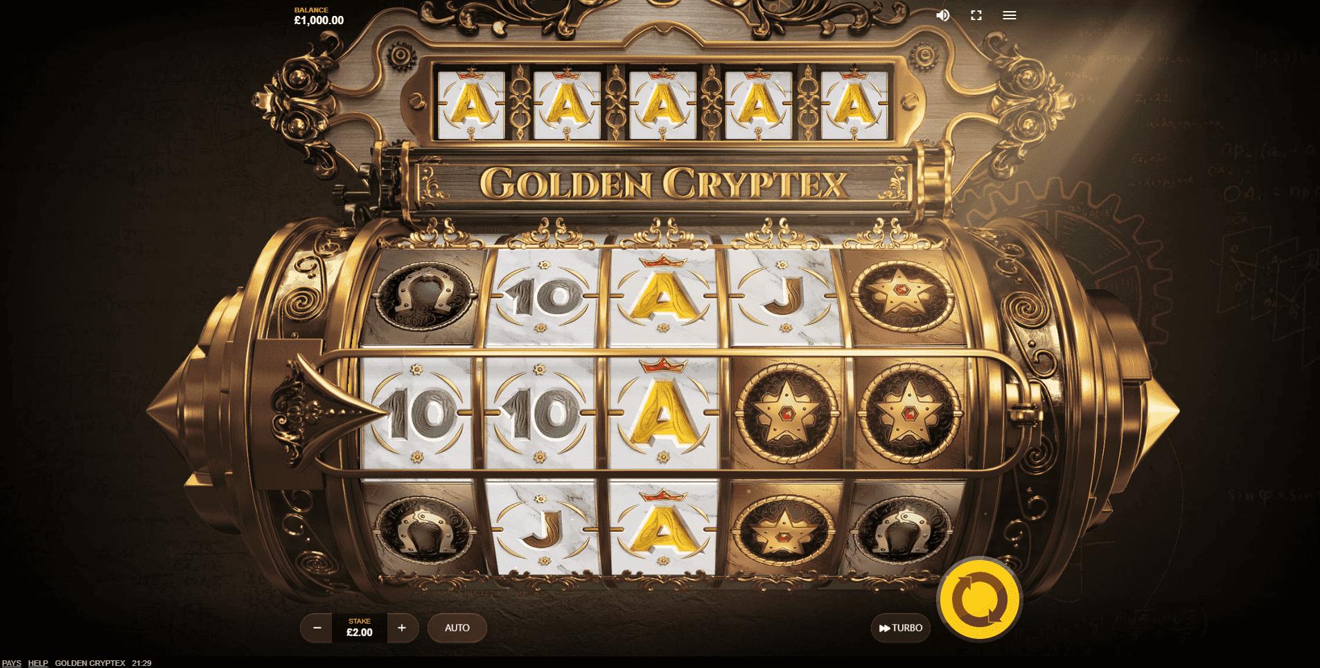 Golden Cryptex slot machine screenshot