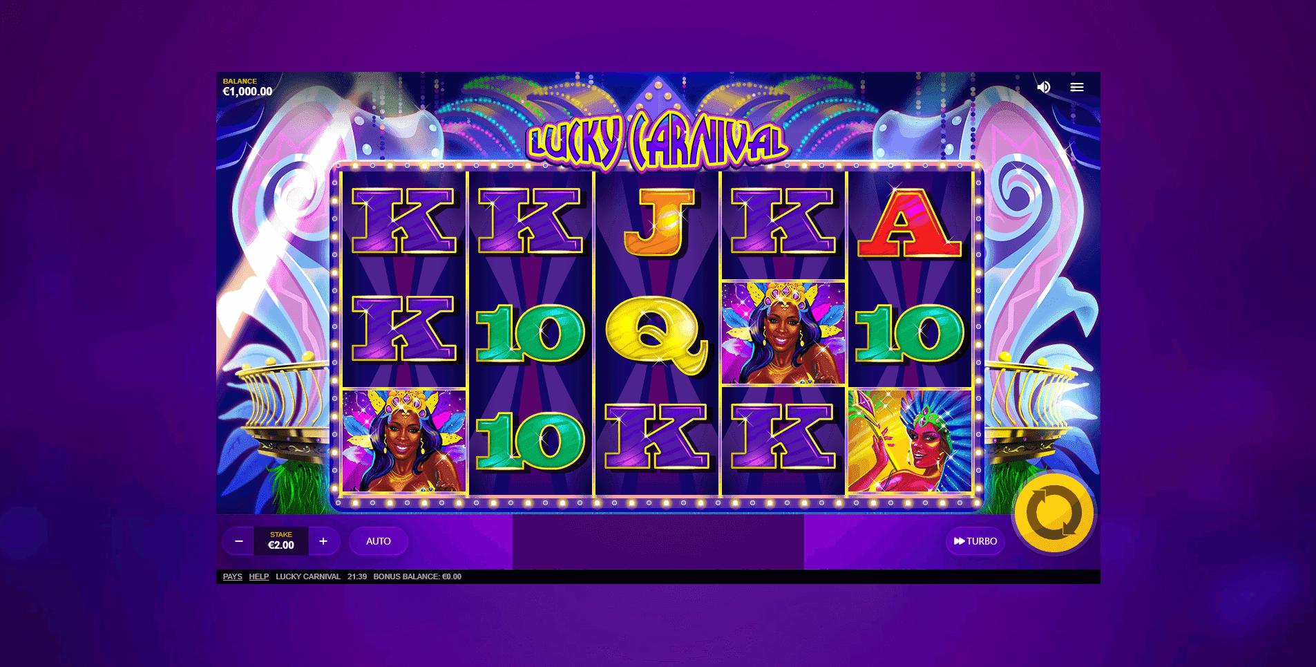 Lucky Carnival slot machine screenshot
