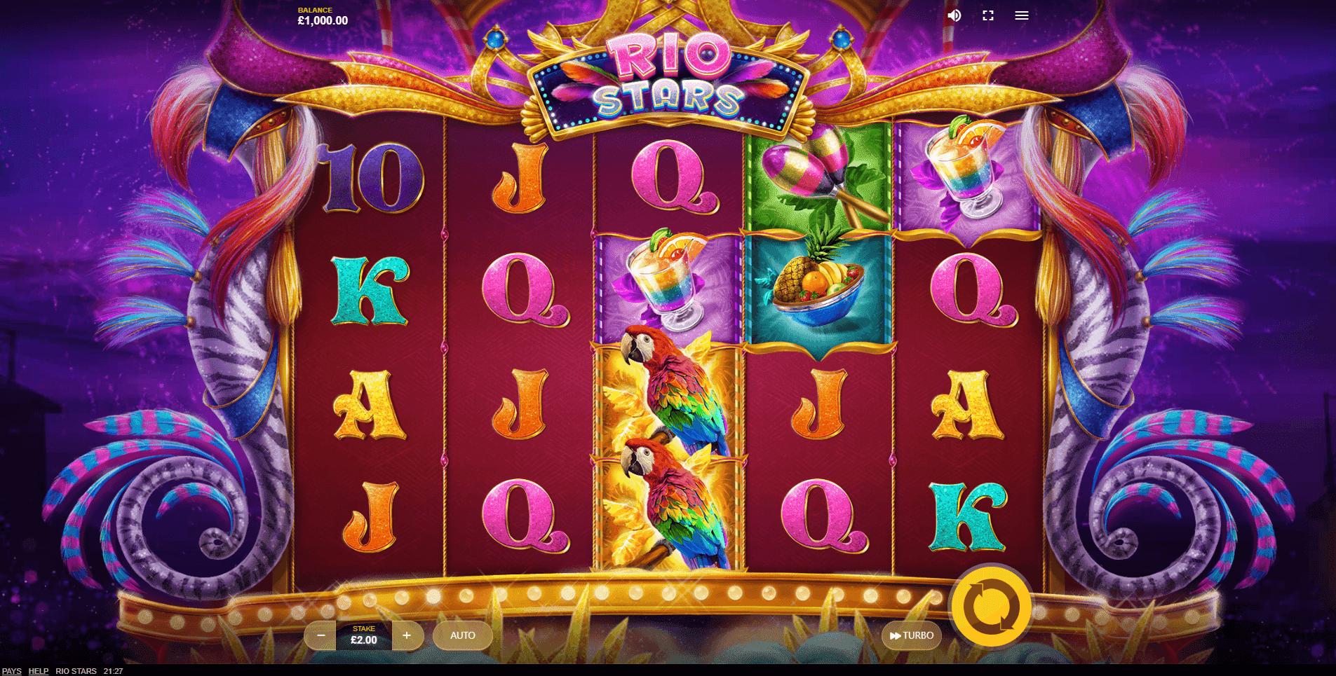 Rio Stars slot machine screenshot