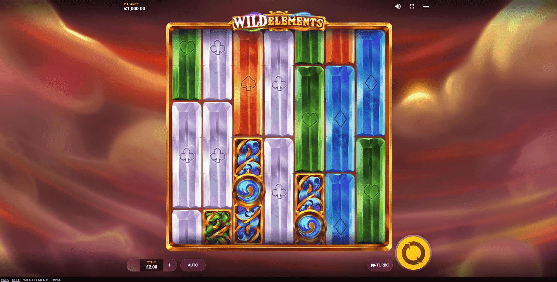 Wild Elements slot machine screenshot