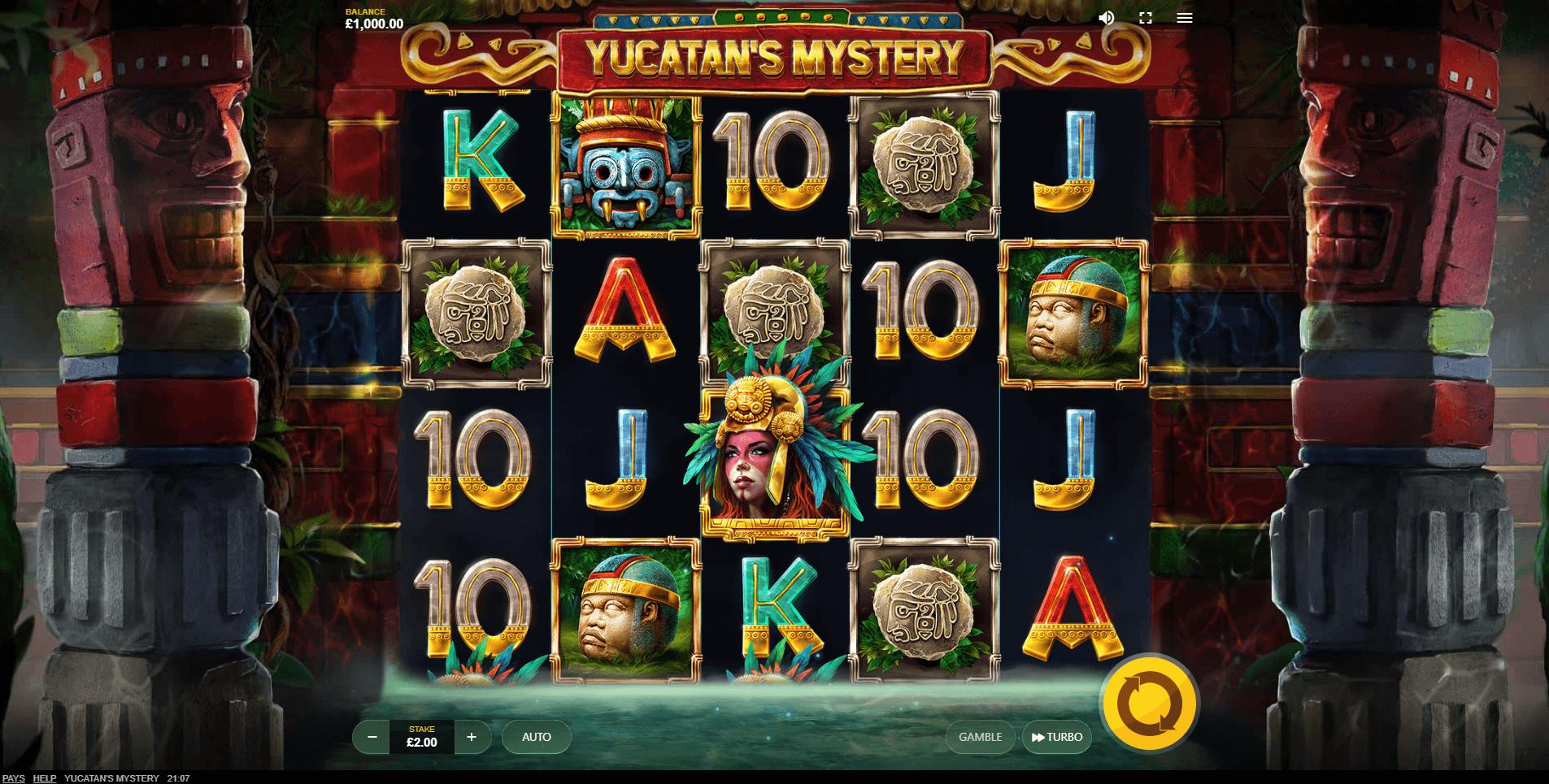 Yucatans Mystery slot machine screenshot
