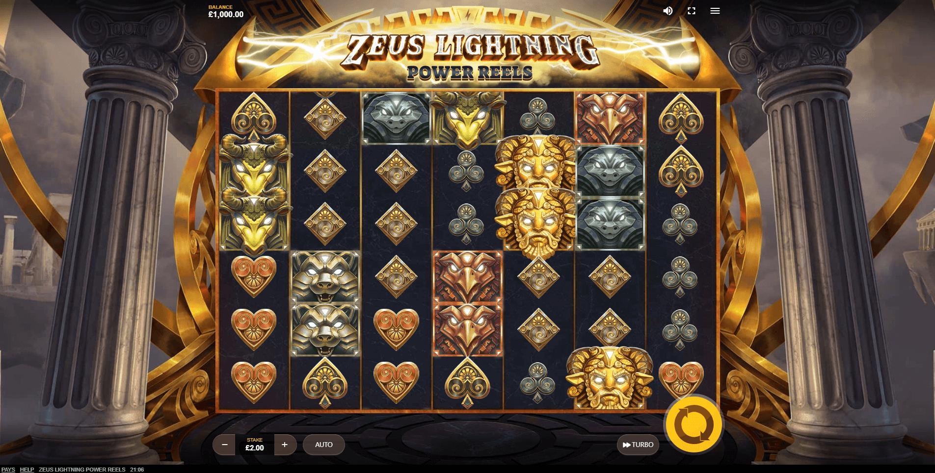 Zeus Lightning Power Reels slot play free
