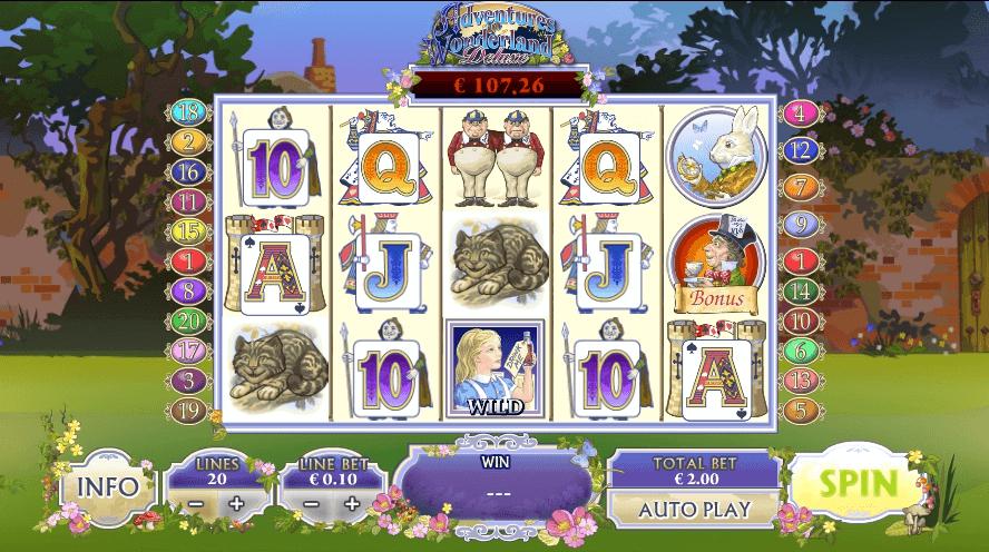 Adventures in Wonderland slot play free