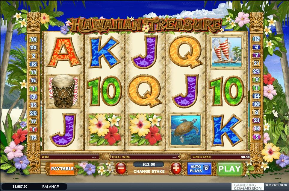 Hawaiian Treasure slot machine screenshot