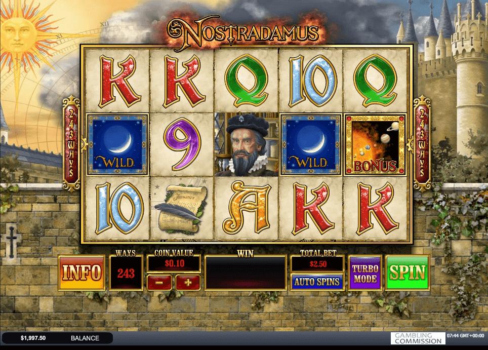 Nostradamus Prophecy slot machine screenshot