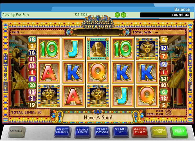 Pharaohs Treasure Slot Machine