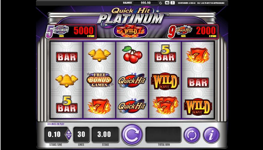 Quick Hit Platinum slot machine screenshot