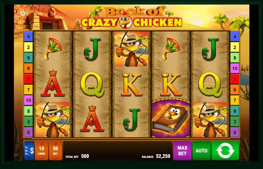Book Of Crazy Chicken slot machine screenshot