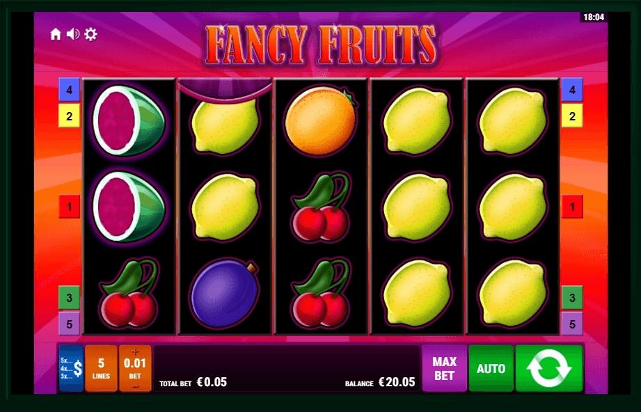 Fancy Fruits slot machine screenshot