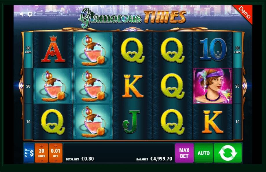 Glamorous Times slot machine screenshot