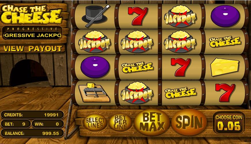 Chase The Cheese slot machine screenshot
