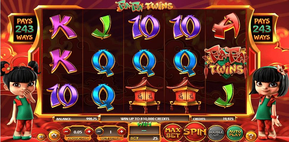 Fa-Fa Twins slot machine screenshot