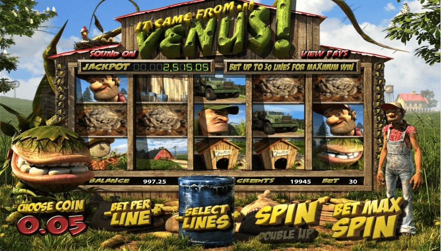 It Came From Venus slot machine screenshot