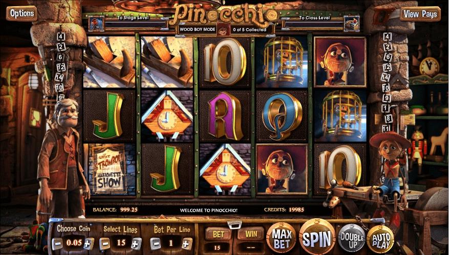 Pinocchio slot play free