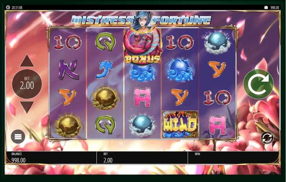 Mistress of Fortune slot machine screenshot