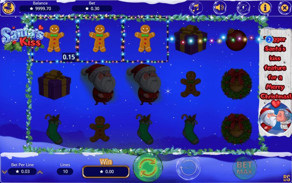Santas Kiss slot machine screenshot