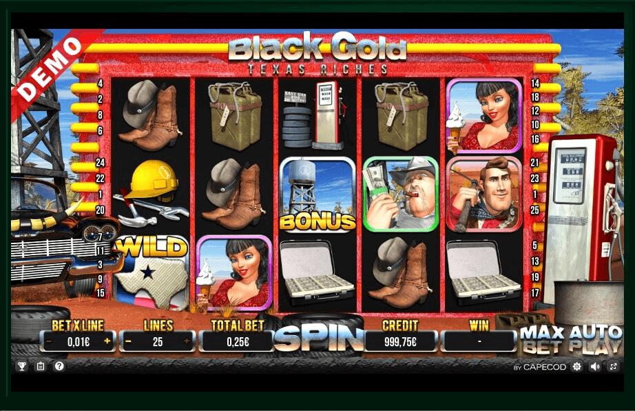 Black Gold Texas Riches slot machine screenshot
