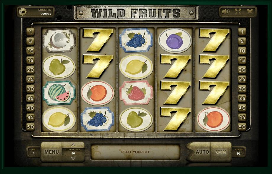 Wild Fruits slot machine screenshot