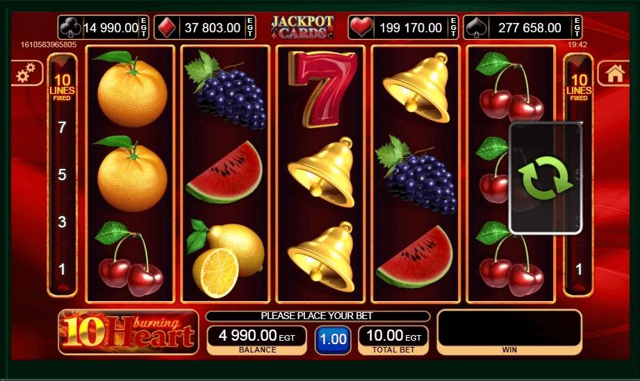 10 Burning Heart Slot Machine