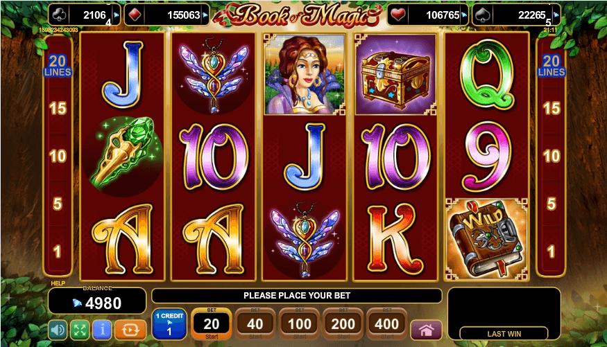 Free Book Of Magic Slot Machine Online