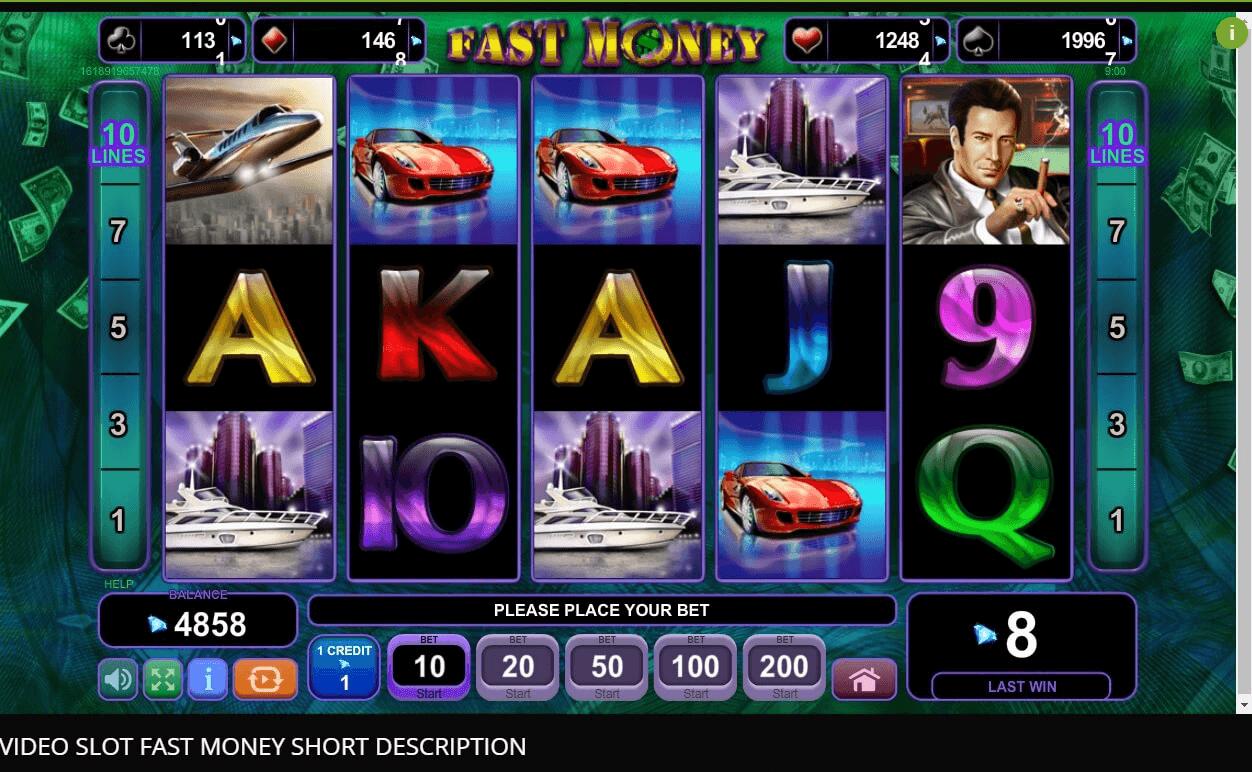 Fast Money slot machine screenshot