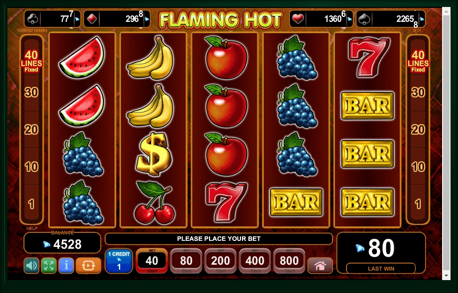 Flaming Hot slot machine screenshot