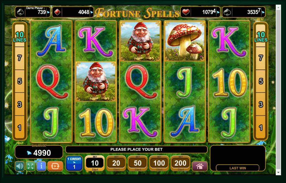 Fortune Spells slot machine screenshot