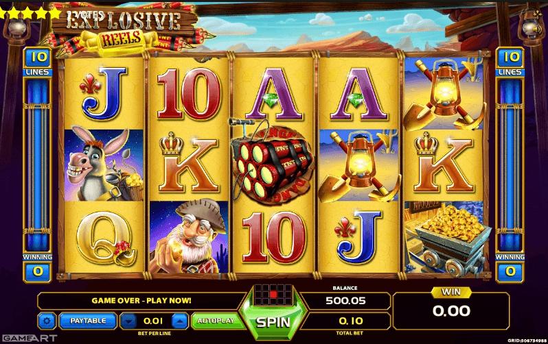 Explosive Reels slot machine screenshot