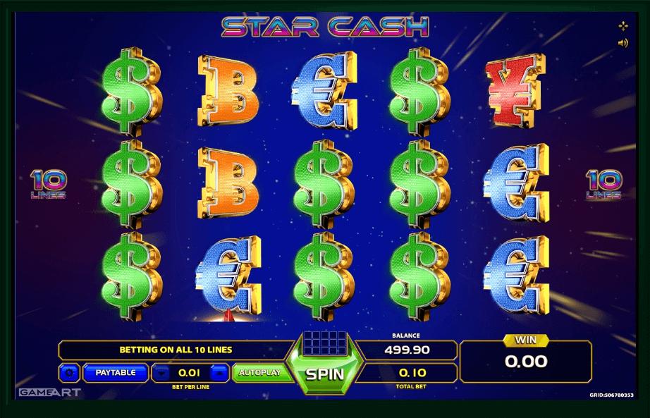 Star Cash slot machine screenshot