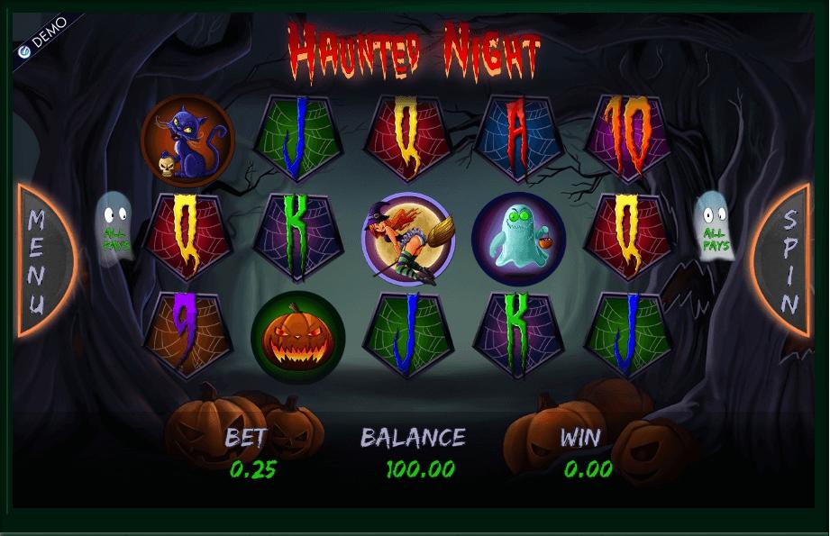 Haunted Night slot machine screenshot