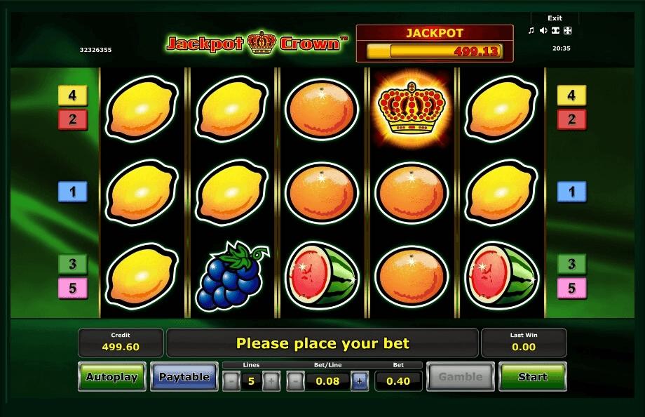 Jackpot Crown slot machine screenshot