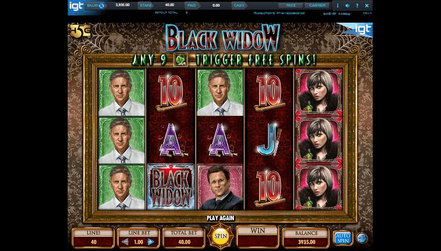 Black Widow slot machine screenshot